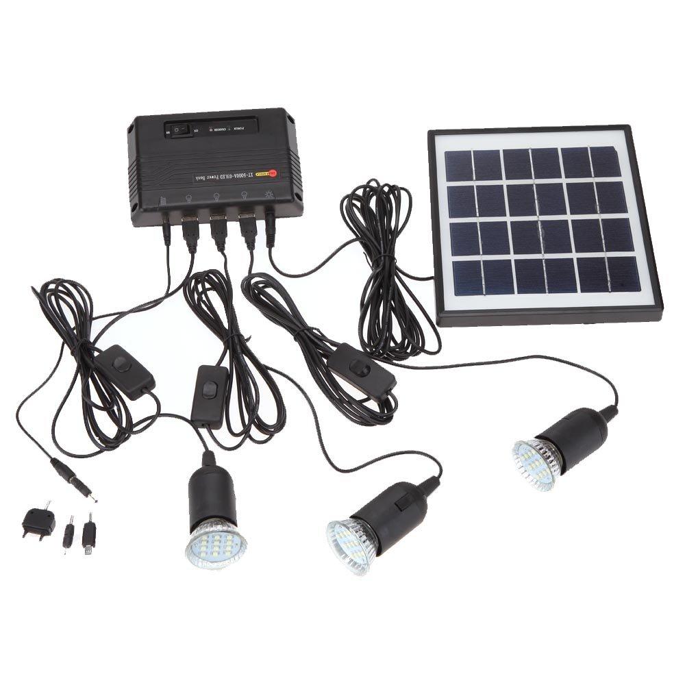 Amazon.com: Lixada 4W Solar Powered Panel 3 LED Light Lamp USB 5V ...