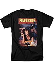 Wonky Pulp Fiction Movie Poster Uma Thurman Men's ComfortSoft Short Funny T-Shirt