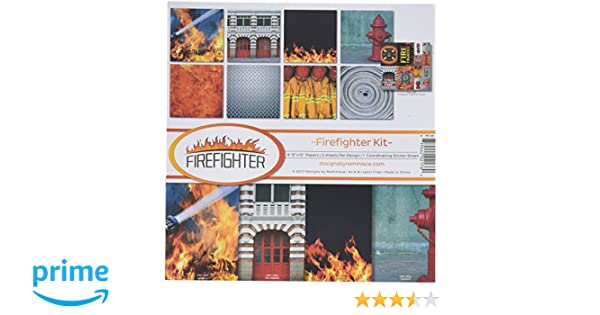 Reminisce Firefighter Scrapbook Collection Kit