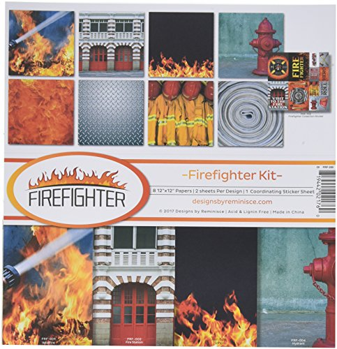 Archive Scrapbooking Scrapbook (Reminisce Firefighter Scrapbook Collection Kit)