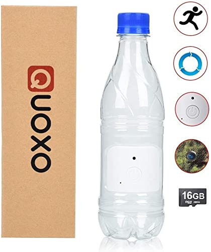 QUOXO New Version 16G 1080P HD Water Bottle Hidden Camera Recorder Support Motion Detection and Loop Recording