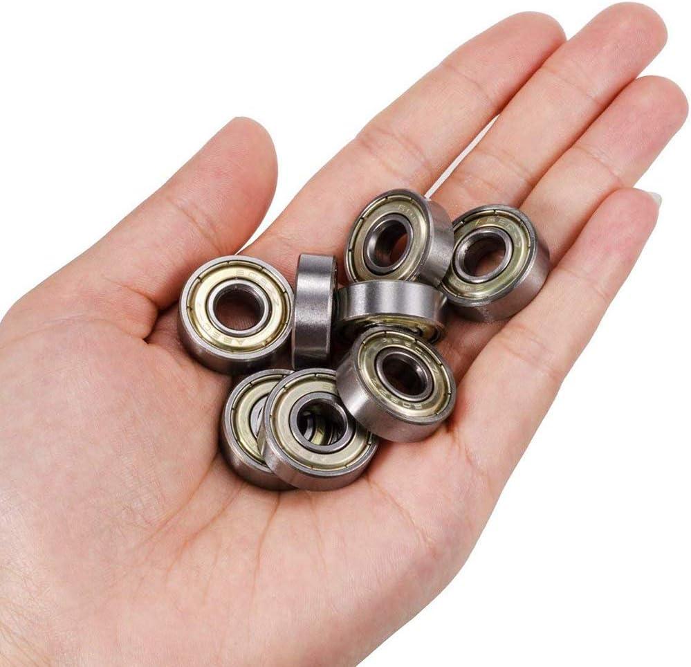 26Pezzi Xinlie Cuscinetti a Sfera Mini 608zz,in Metallo Resistente al Calore Resistente Multiuso Cuscinetto Mini Cuscinetti a Sfera in Acciaio Double Side Cuscinetti a Sfere a Gola Profonda Sigillati