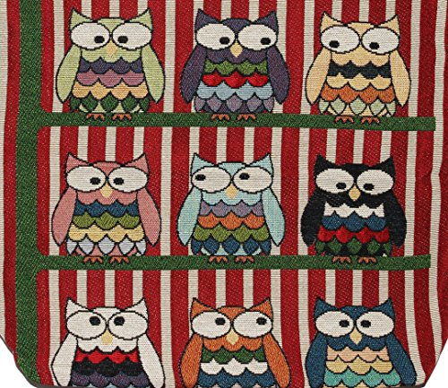 Owl Bag O207 Bohemian Handbag Tote Top Big Shoulder Size Handle Hippie rTrdfqEw