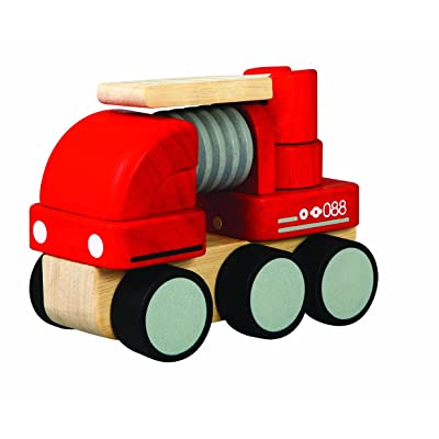 PlanToys Mini Fire Engine: Toys & Games