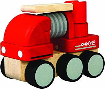 Plan Toys Wooden Mini-Fire Engine