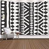 Pamime Home Decor Tapestry for Black White Tribal