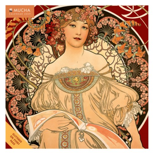 Calendar 2009 Mucha (Extra Large Wall 350mm x 350mm / 13in x 13in) Flame Tree Publishing