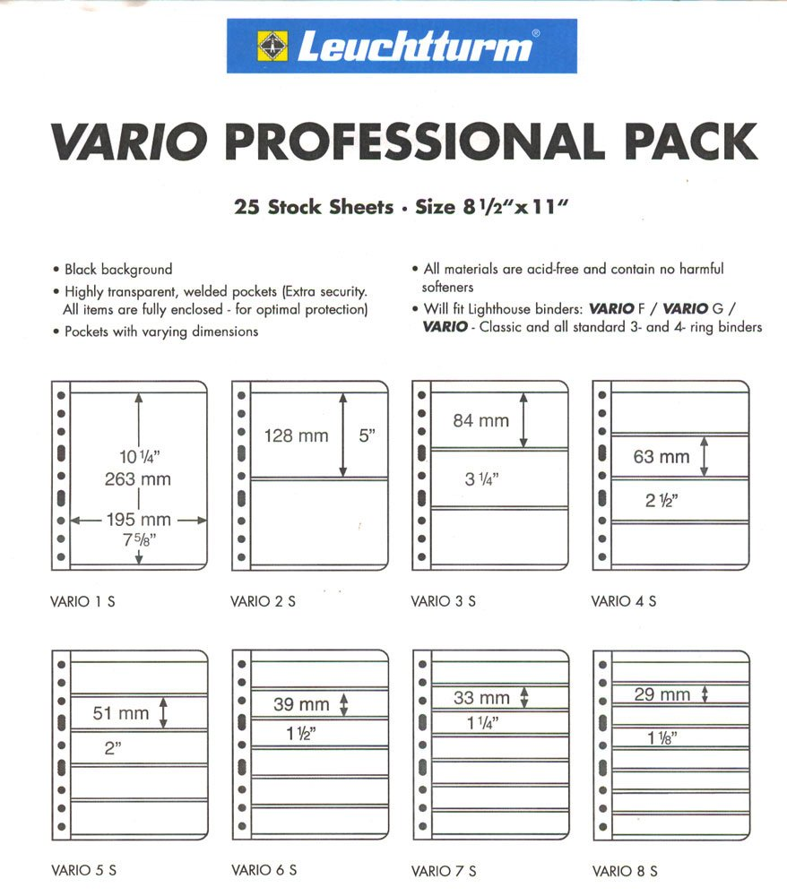 25 Lighthouse VARIO 1S Pages - Professional Pack