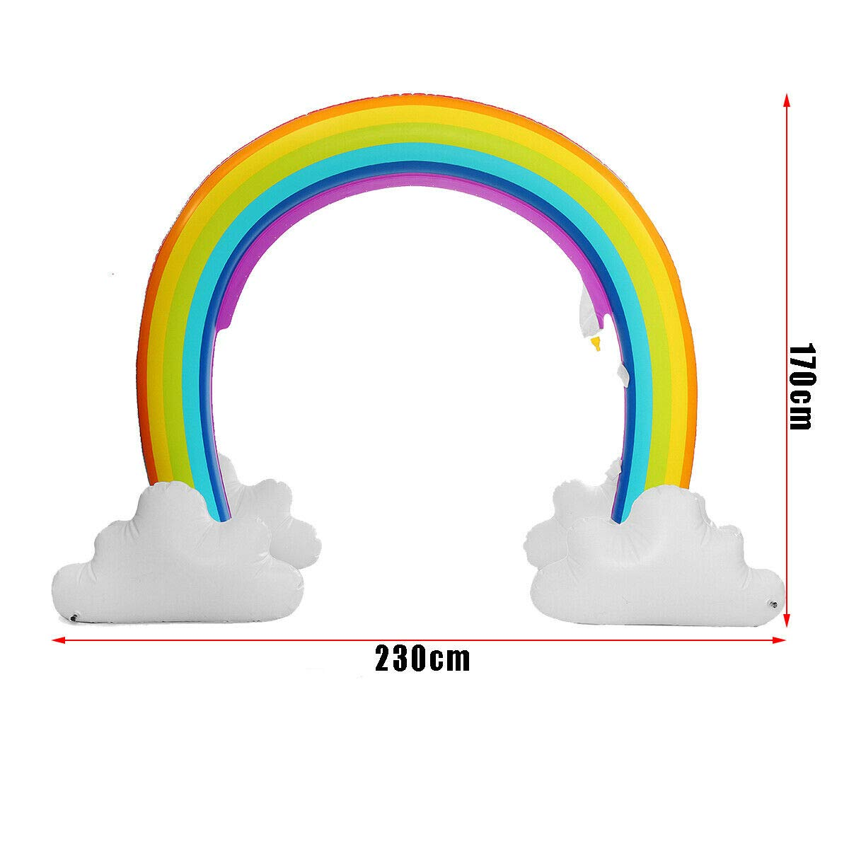MerryXD Rainbow Sprinkler,Giant Water Inflatable Arch Sprinkler Outdoor Summer Toys for Kids by MerryXD (Image #2)