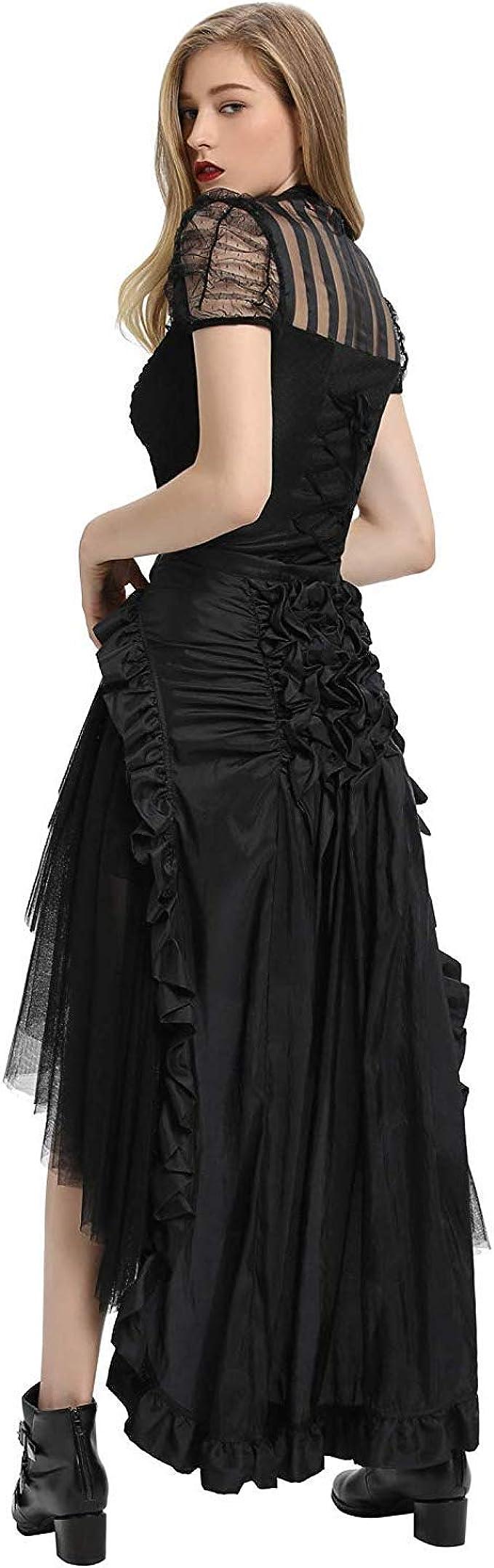 Zexxxy - Falda pirata, Steampunk, victoriana, gótica, Lolita para ...