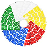 Color Label Printer - Hestya 20 Sheets Self-adhesive Cable Labels Waterproof Wire Label Tear Resistant Marker Tags Cord Tags for Laser Printer, 5 Colors