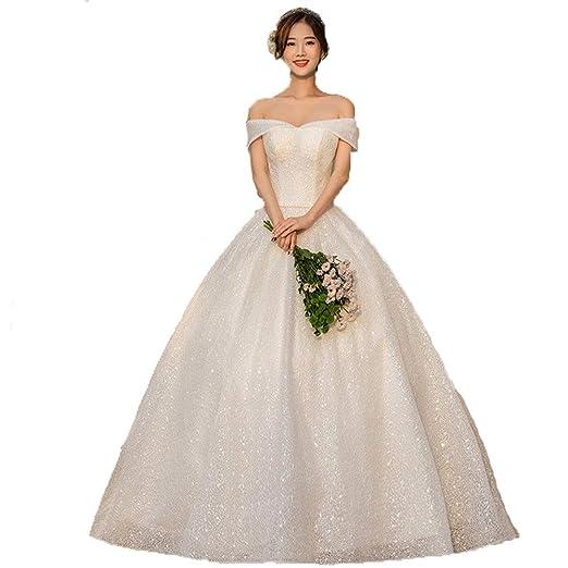 Vestidos de novia Mujeres fuera del hombro cariño Glitter ...
