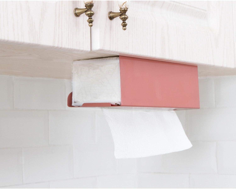 Festnight Scatola in Tessuto Scatola Portaoggetti Porta Asciugamani Fazzoletti Rettangolare di Carta Tissue Box Dispenser da Cucina Nero//Bianco//Verde//Rosa