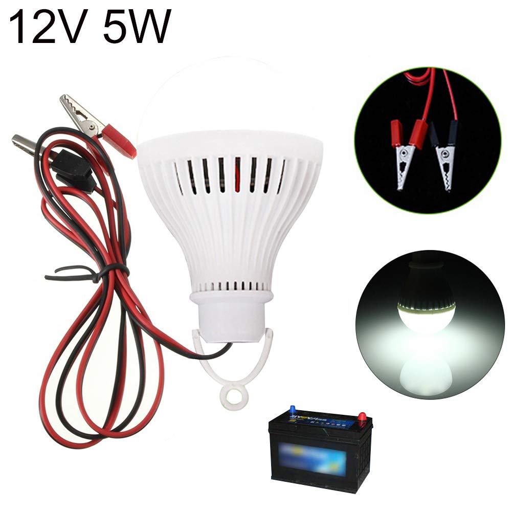 E27 5W 12V 6000K Lampada a LED a risparmio energetico per campeggio