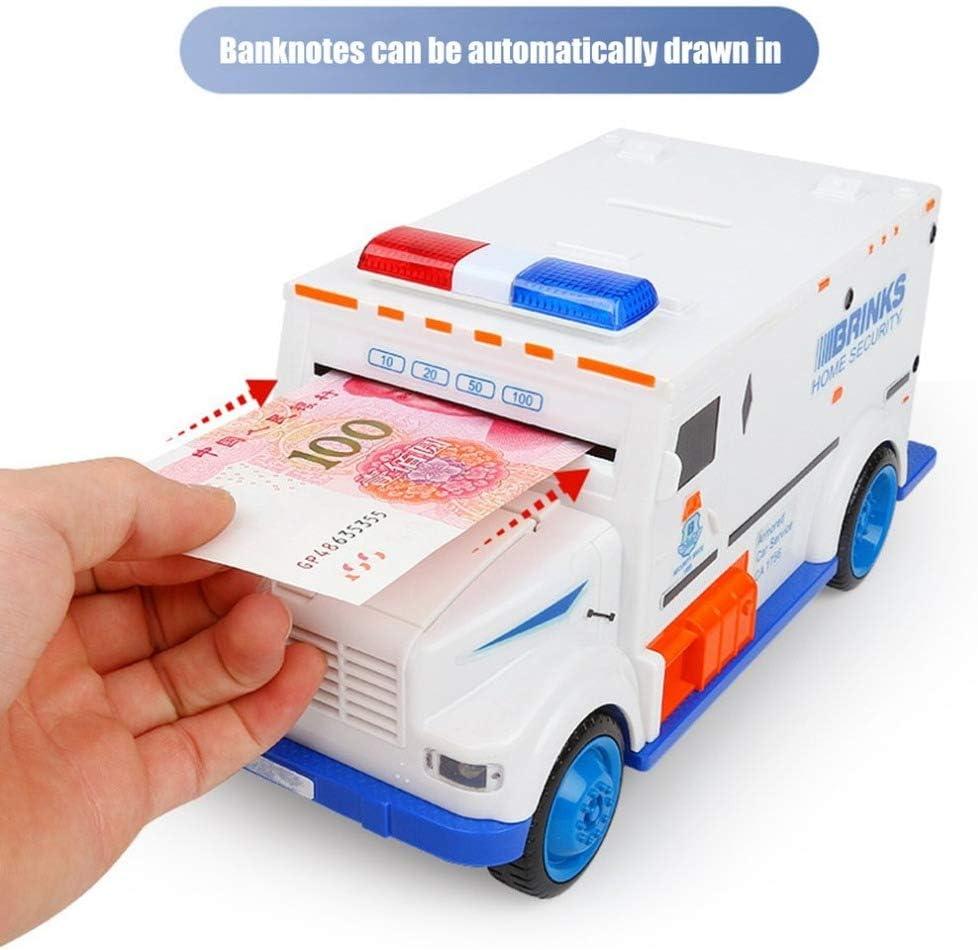 White Automatic Password Money Box Electronic ATM Deposit Coins Cash Saving Box Cash Safe Box for Boys Girls Kids Children Birthday Konesky Novelty Toy Cash Truck Piggy Bank