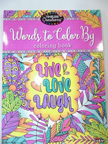 (1 Timeless Creations Words To Color By Live, Love And Laugh 12'' X 12'')