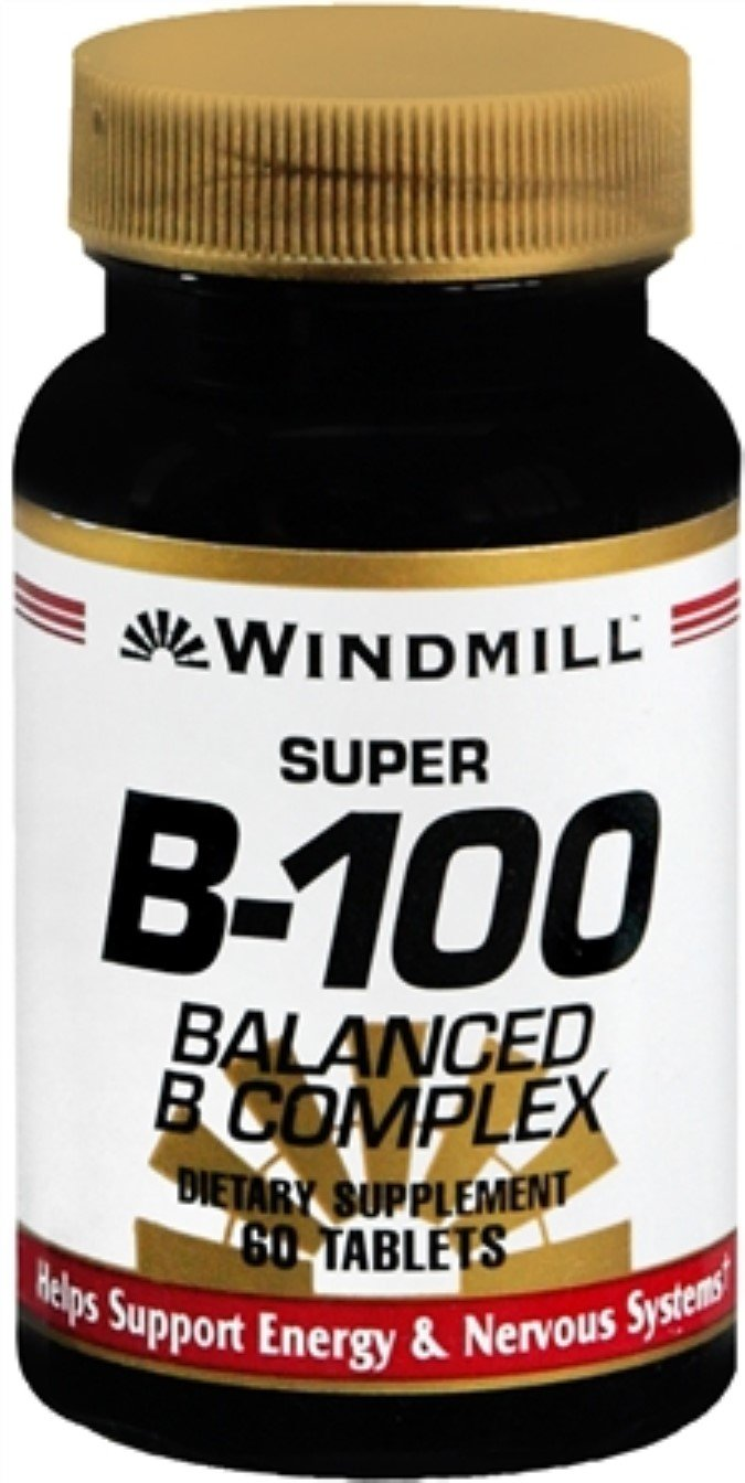 Windmill Super B-100 Tablets 60 Tablets (Pack of 9)