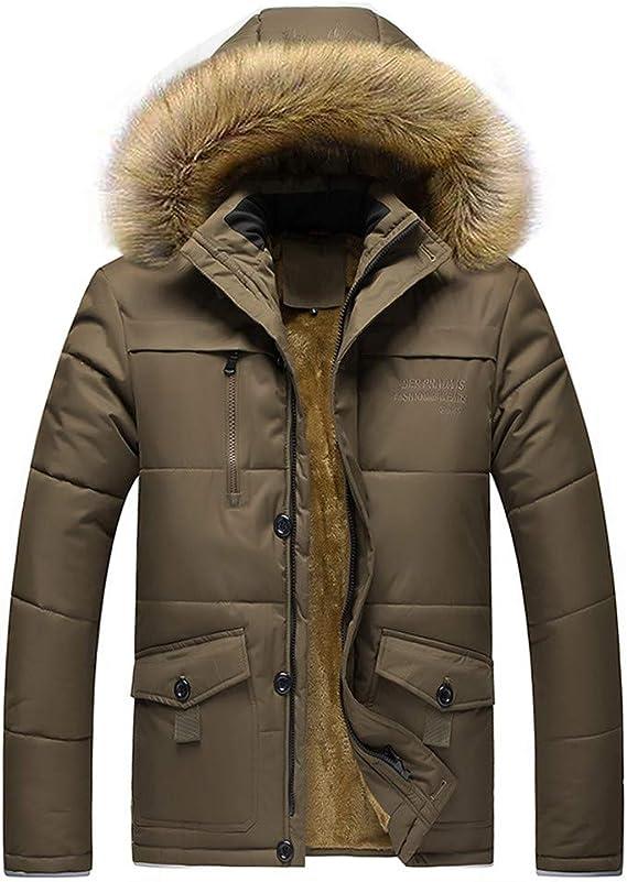 Manteau Solides À Poches Coat Manteaux Fit HommeHiver Trench Pardessus Épaissi Parka Rembourré Blouson Mode Veste Hoodie Zippé Coats Capuche Outwear 0wknPO