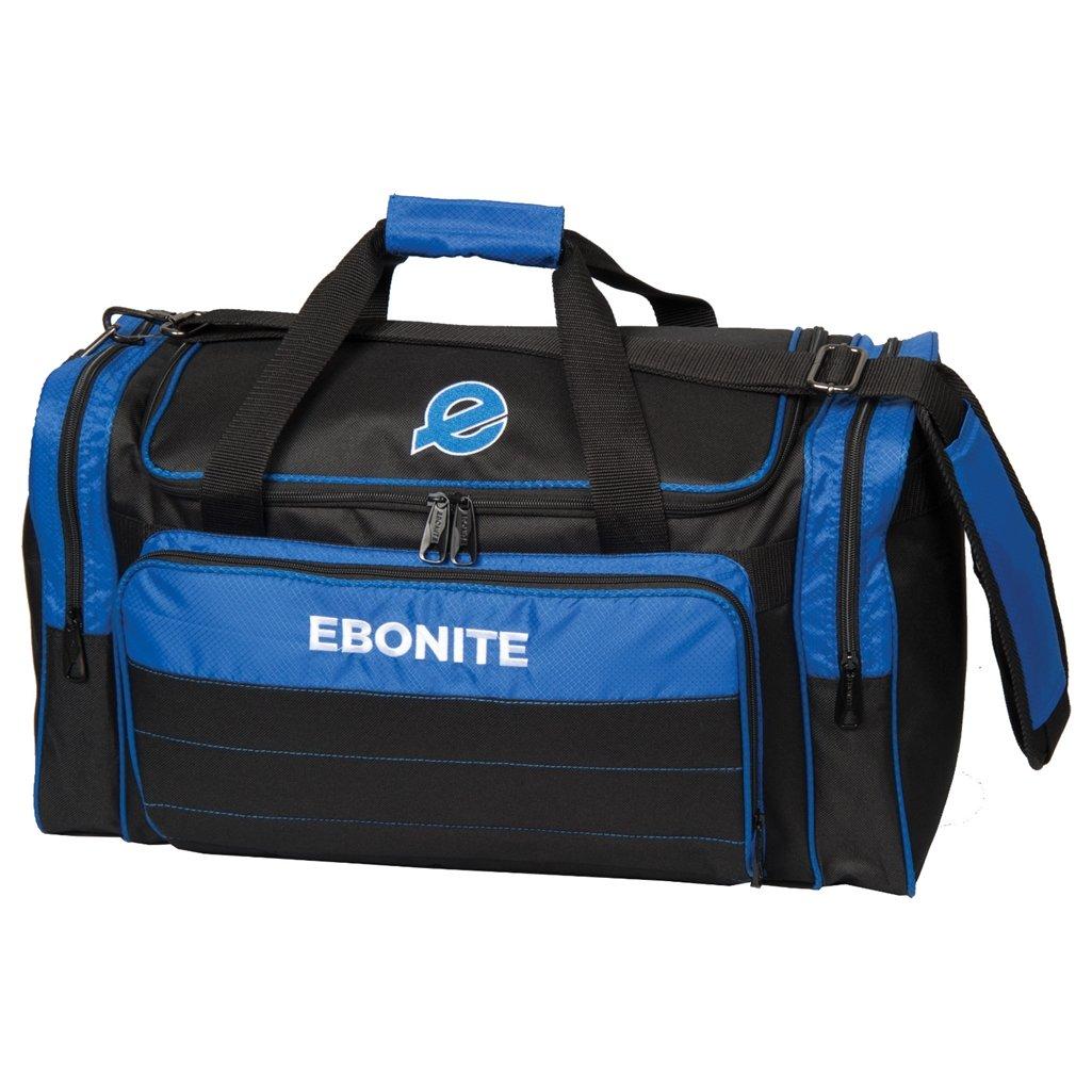 Ebonite Conquest Double Tote Bowling Bag, Black/Royal by Ebonite