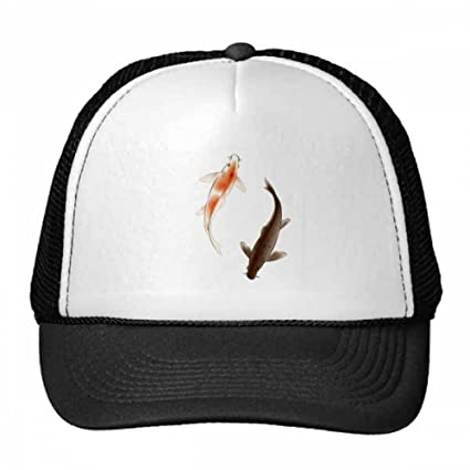 e7dbfffc5fae1 Amazon.com   DIYthinker Traditional Chinese Japanese Lucky Fish Trucker Hat  Baseball Cap Nylon Mesh Hat Cool Children Hat Adjustable Cap Gift   Sports    ...