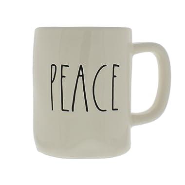 Rae Dunn Magenta Ceramic Coffee Mug Peace