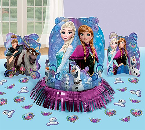 Amscan Magic Table Decorating Kit | Disney Frozen Collection | Party Accessory, Multicolor