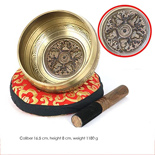 YDJGY Cuenco Tibetano Cuenco Bol de Buda Tono Nepal Hecho a ...
