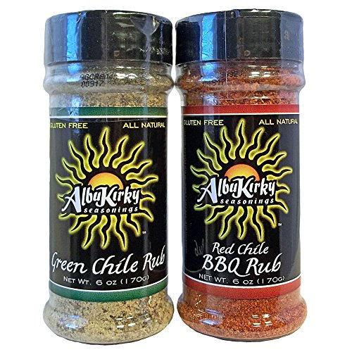 AlbuKirky Seasonings Red and Green Chile Rub Pack of 2 6-Oz Shakers by AlbuKirky Seasonings