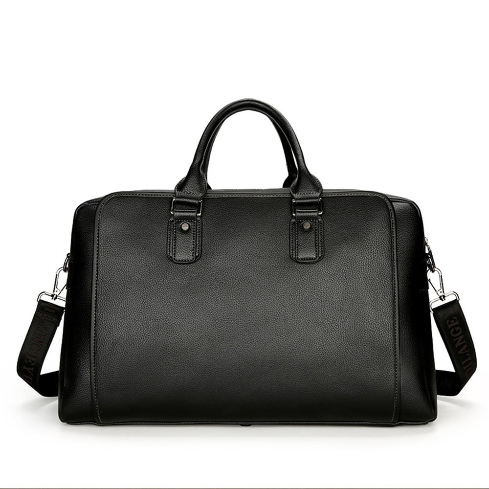 Yangjiaxuan Men Imitation Leather High Capacity Handbag Business Travel Bag Briefcase Short Trips Luggage (Color : Black)