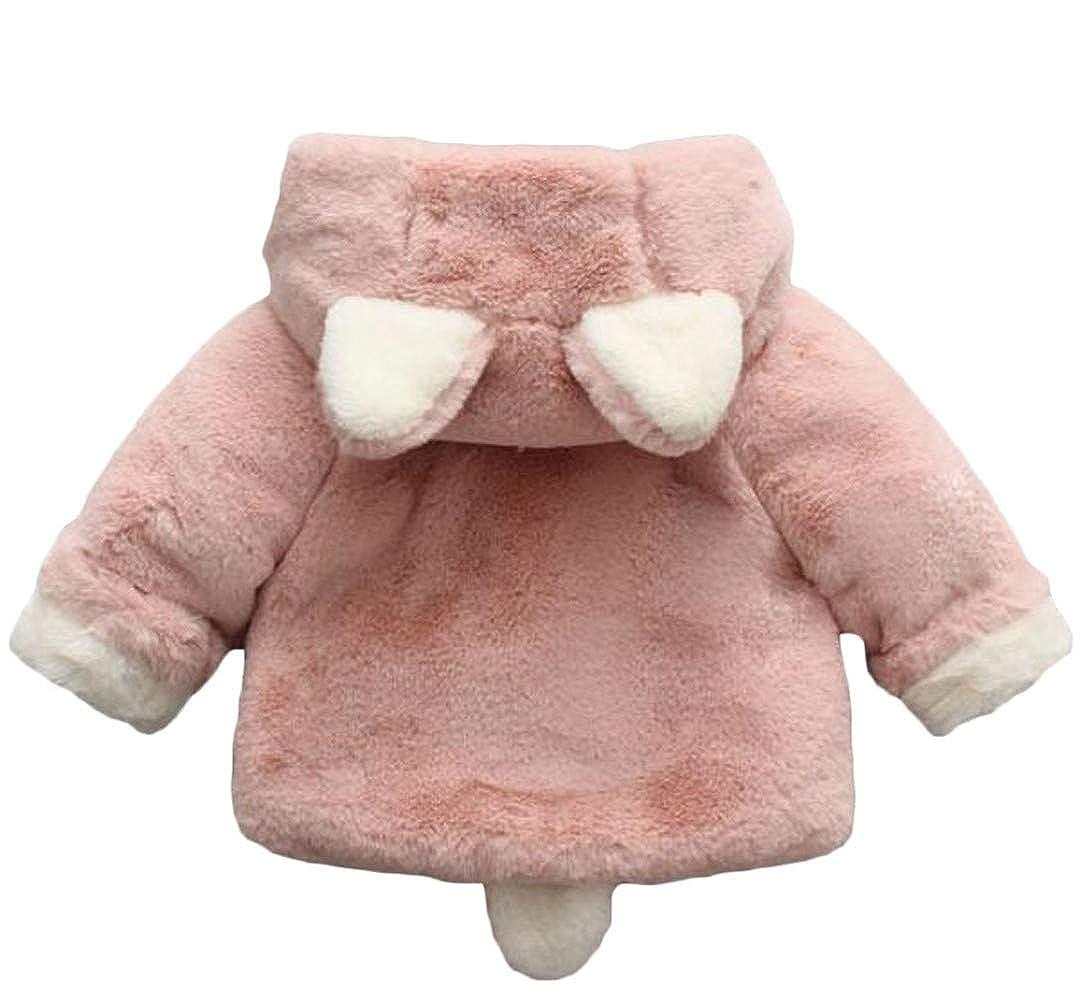 Lutratocro Girls Faux Fur Lined Fleece Casual Hoodid Thicken Jacket Parka Coat