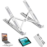 Adjustable Laptop Stand, Ergonomic Ventilated Laptop Holder, Portable Laptop Riser, Computer Stand, MacBook Stand…