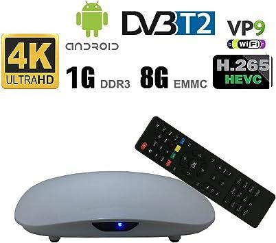 Mejor TV Plus + P231 Smart Android Caja de TV DVB T2 Quad-core ...