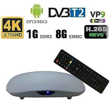 Mejor TV Plus + P231 Smart Android Caja de TV DVB T2 Quad-core 64-bit Amlogic S905D 1G + 8G H.265 KODI 17.1 Android 7.1 TV Box.: Amazon.es: Electrónica
