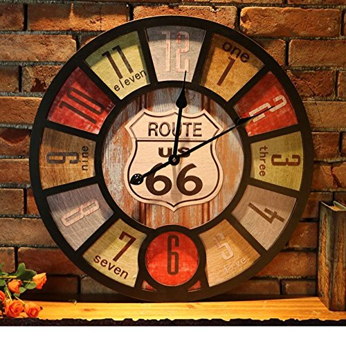 Retro wall clock,Industrial clock - cool industrial wall decor