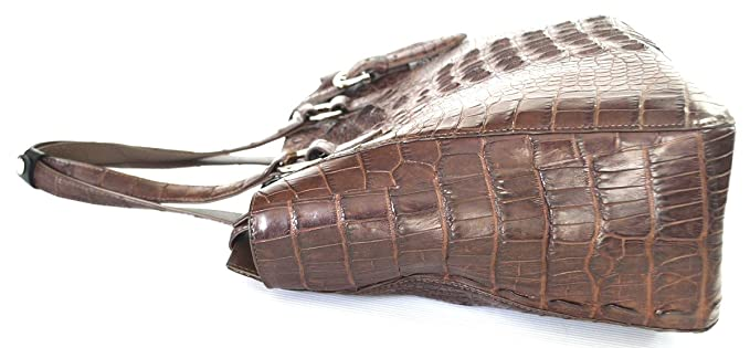 Amazon.com: Authentic Río Womens piel de cocodrilo Satchel ...