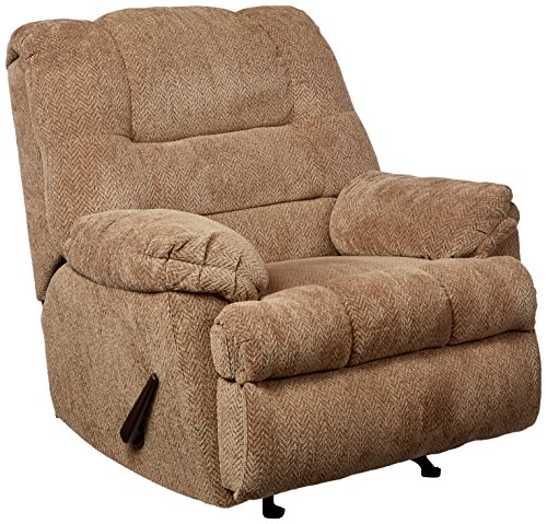 Simmons Upholstery U600-19 Zig Zag Tan Rocker Recliner (Chair Microfiber Simmons)