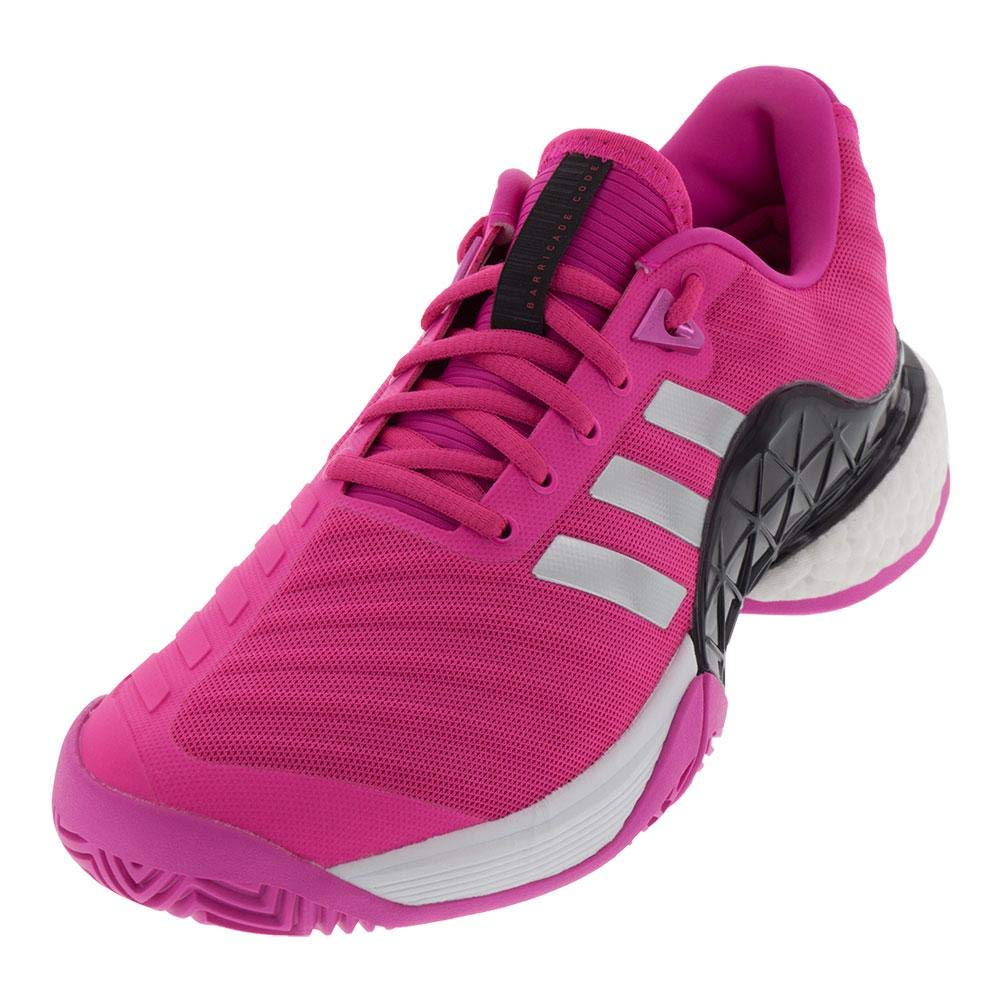picked up best prices on sale adidas Men's Barricade 2018 Boost Shock Pink/Matte Silver/Legend Ink 8 D US
