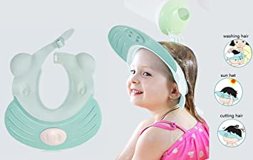 60759a20800 Image Unavailable. Image not available for. Color  Baby Shower Cap Shampoo  Hat Visor Adjustable Durable Silicone Soft Bathing Head Wear for Kids  Toddlers