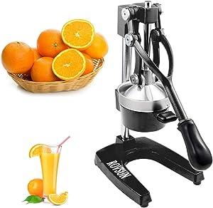 ROVSUN Commercial Grade Citrus Juicer Hand Press Manual Fruit Juicer Juice Squeezer Citrus Orange Lemon Pomegranate (Black)