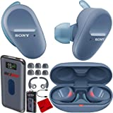 Sony WF-SP800N Truly Wireless Noise Canceling Sport Earbud Headphones (Blue) with IP55 Water/Sweat Resistance and Hands Free