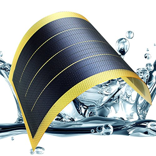 Fexible Solar Panel Solar Power Charger Thin Film DIY 1W 6V Photovoltaic Cells, Yellow