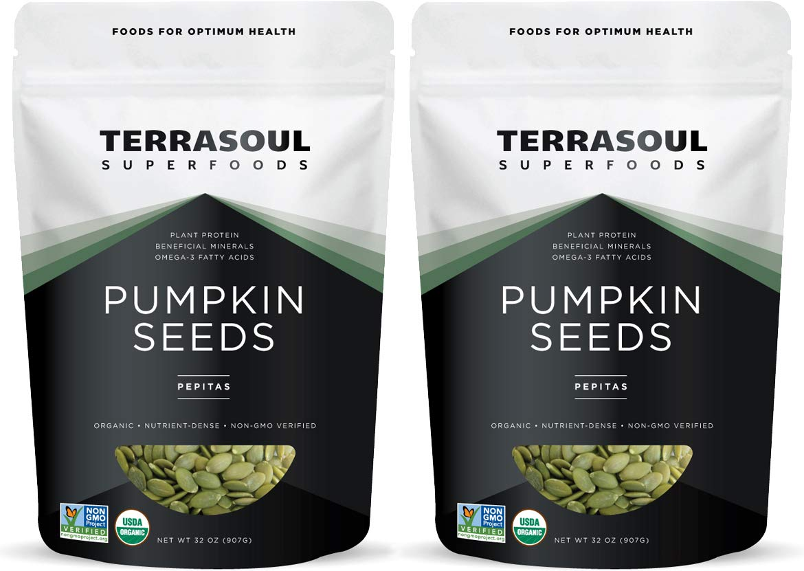 Terrasoul Superfoods Organic Pumpkin Seeds, 4 Lbs - Premium Quality   Fresh   Raw   Unsalted by Terrasoul Superfoods