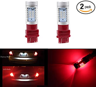 2X 3157 T25 33SMD LED Strobe Flashing Bulbs Brake Parking Light Turn Signal Lamp