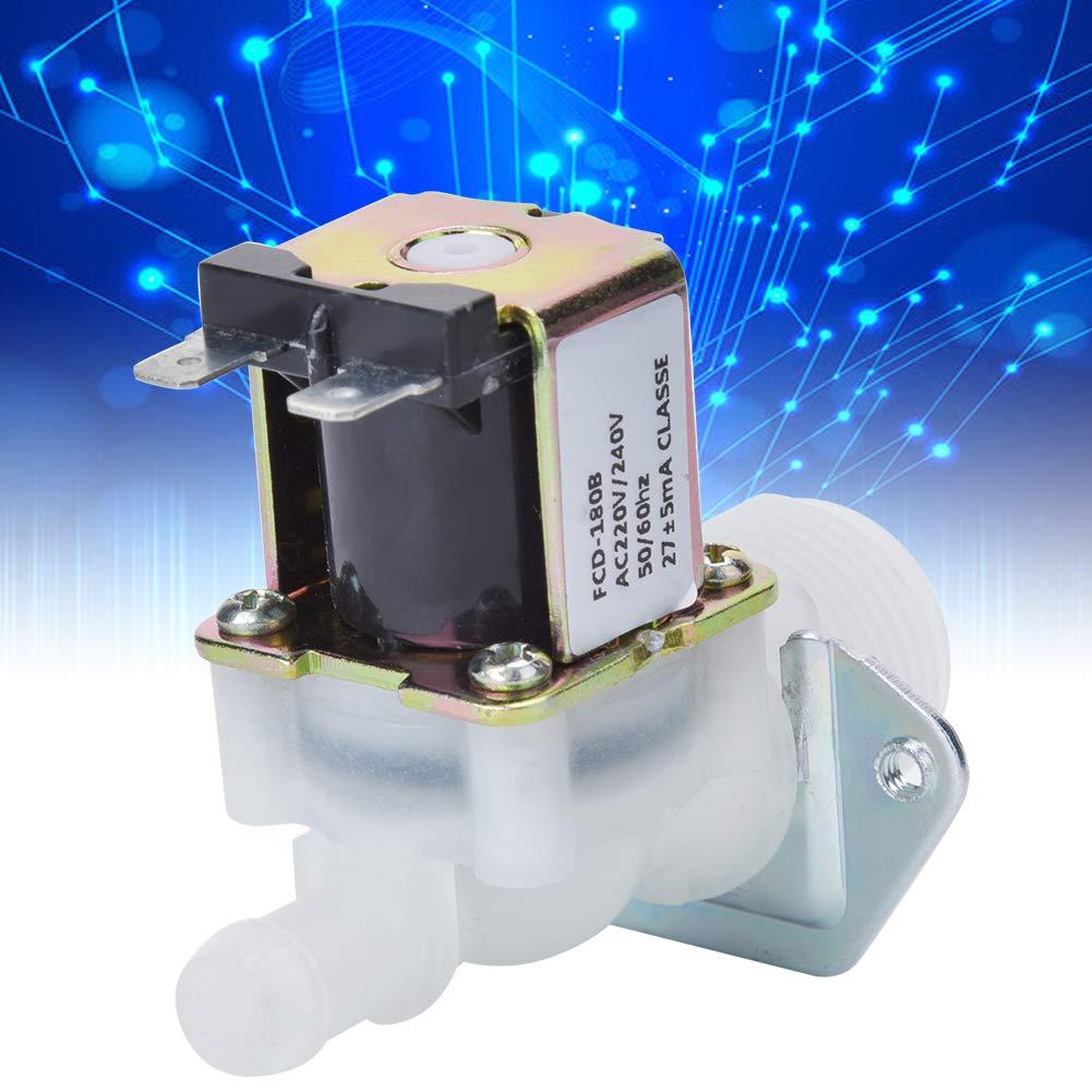 conector de pl/ástico de gu/ía de 1 v/ía de entrada de 3//4para uso dom/éstico, 240V v/álvula solenoide de agua AC220V V/álvula solenoide el/éctrica de 3//4 pulgadas