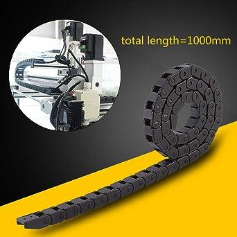 1000 mm Cable (10x10 mm, R28) de Nylon Negro Cable de Cadena de ...