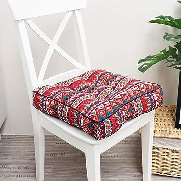 Amazon.com: H.S.D - Cojines para silla/asiento de algodón ...