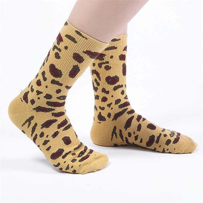 FAMILIZO Calcetines Moda Unisex Mujeres Hombres Algodón Leopardo Impresión Calcetines Largos Calcetines Tobillo Tobilleros Antideslizantes: Amazon.es: Ropa ...