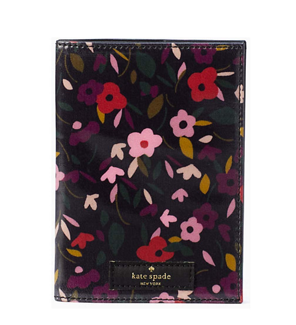 Kate Spade New York daycation boho floral passport Black multi by Kate Spade New York