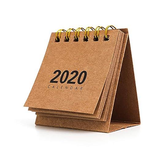 MB-LANHUA 2020 Año Nuevo Calendario de Mesa Mini Calendario de ...