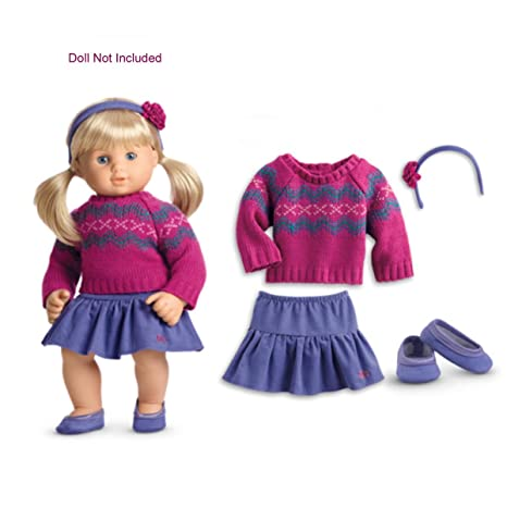 """15/"""" In Baby Doll Clothes Fit American Girl Bitty Twin Rainbow Shirt Skirt Shoes"""